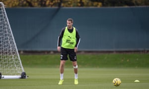 Florian Lejeune is back in training for Newcastle.