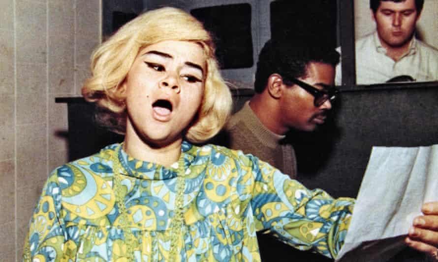 Etta James recording at Fame studios, Muscle Shoals, Alabama, circa 1967.