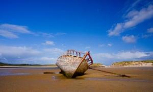 Bád Eddie, AKA Eddie's Boat, on a beach in Gweedore, County Donegal.