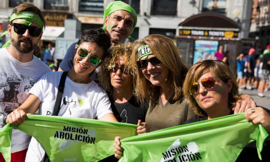 Pacma supporters at a march against bullfighting in Madrid in September last year.