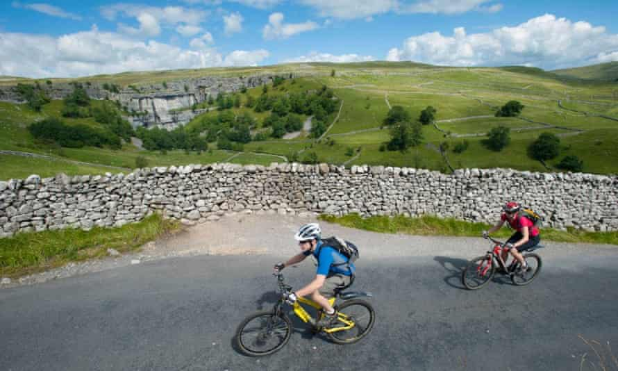 Mountain biking on the Yorkshire Dales Cycleway