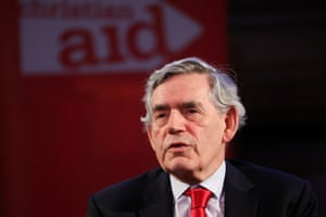 Britain's former Prime Minister Gordon Brown