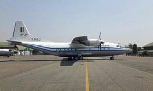 A Y-8-200 F military aircraft, similar to the plane that has gone missing in Myanmar.