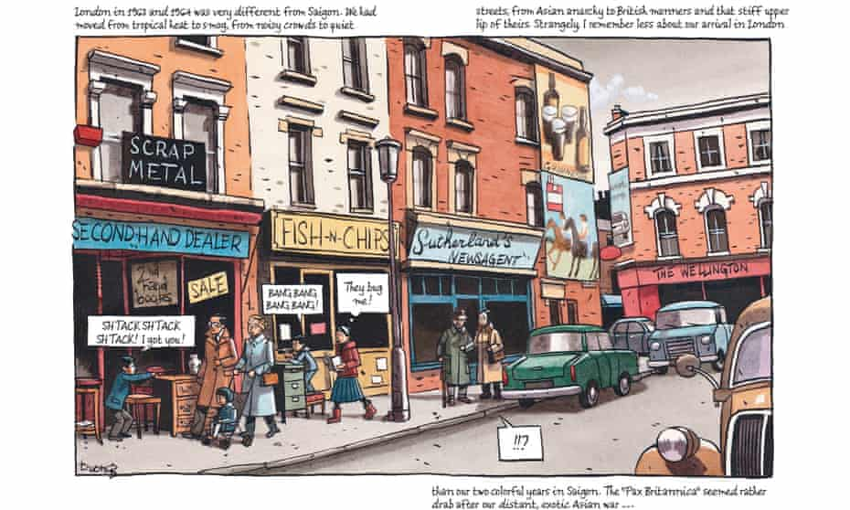 A panel from Marcelino Truong's Saigon Calling: London 1963-75
