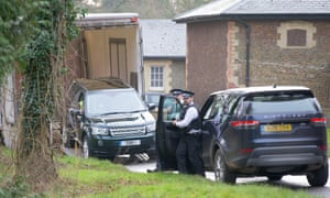 A replacement Land Rover Freelander is delivered to the Sandringham estate.