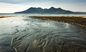 The view of the island of Rum from the isle of Eigg.