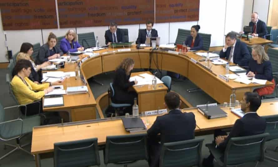 Chancellor Rishi Sunak gives evidence to the Treasury Select Committee on 18 March.