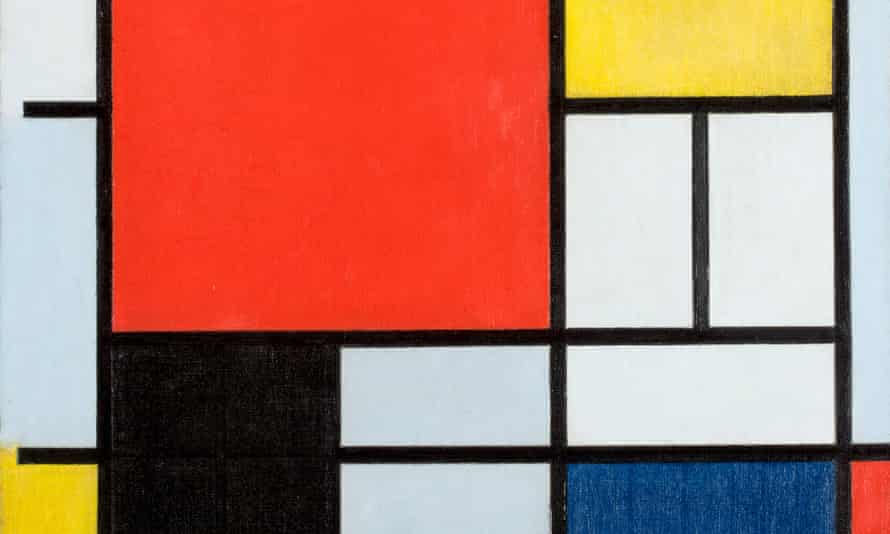 'What a journey his life was' … detail from Mondrian's Composition With Large Red Plane, Yellow, Black, Grey and Blue (1921).