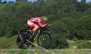 Simon Yates looked strong and in control during a Vuelta a España time trial that strengthened his hopes of a first Grand Tour triumph.