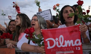 'Flowers for democracy' demonstration against the impeachment of Dilma Rousseff