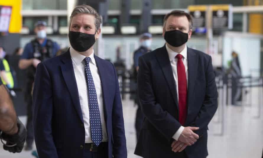 Labour leader Keir Starmer and shadow home secretary Nick Thomas-Symonds.