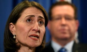 Gladys Berejiklian and the police minister, Troy Grant