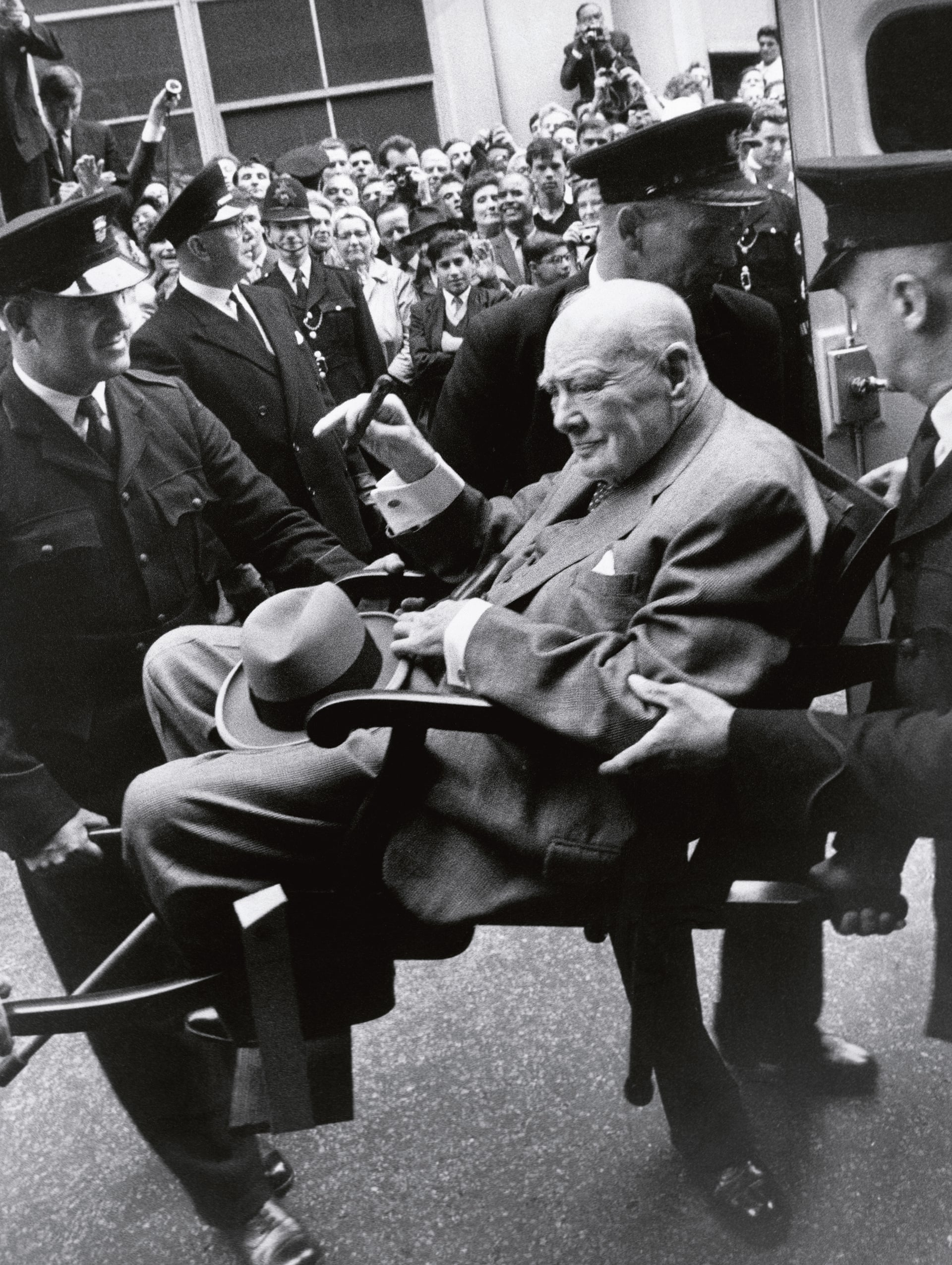Terry O'Neil's image of Winston Churchill after being discharged from hospital