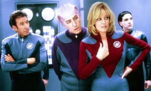 The cast of Galaxy Quest, the sci-fi comedy from 1999.
