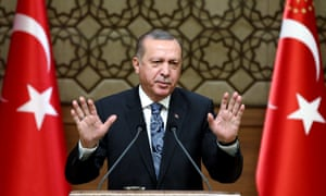Recep Tayyip Erdoğan 'has engaged in a brutal clampdown on human rights that has shocked capitals around the world'.