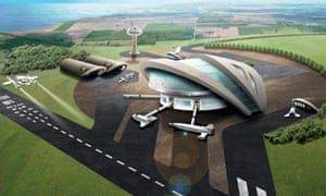 an artist's impression of Newquay's potential spaceport