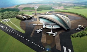 An artist's impression of a UK spaceport. The commercial spaceflight market is estimated to be worth £25bn a year.