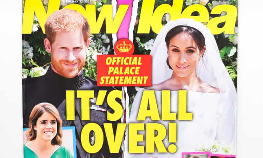 Prince Harry and Meghan Markle on the cover of New Idea magazine.