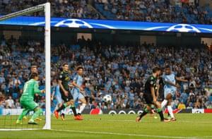 Manchester City's Kelechi Iheanacho makes it four.