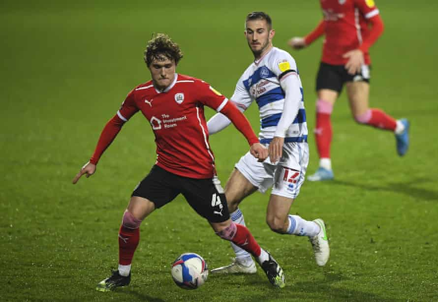 Callum Styles of Barnsley against QPR in February.