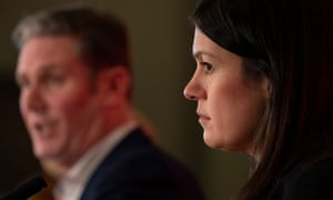 Lisa Nandy with Keir Starmer in the background