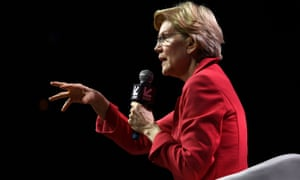 Elizabeth Warren speaks at the South by Southwest conference and festivals in Austin, Texas.