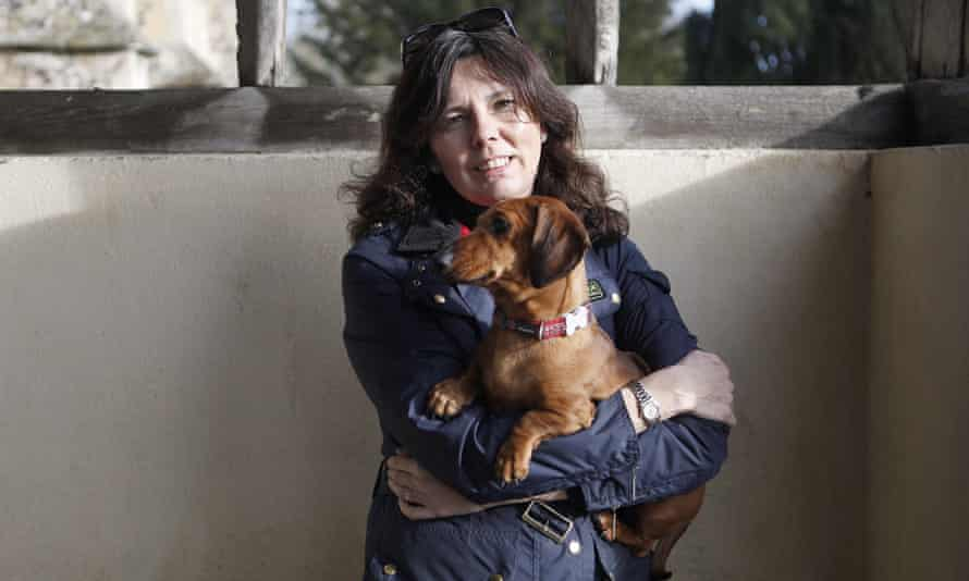 'The dog was like her baby' … Helen Bailey with Boris in 2013.