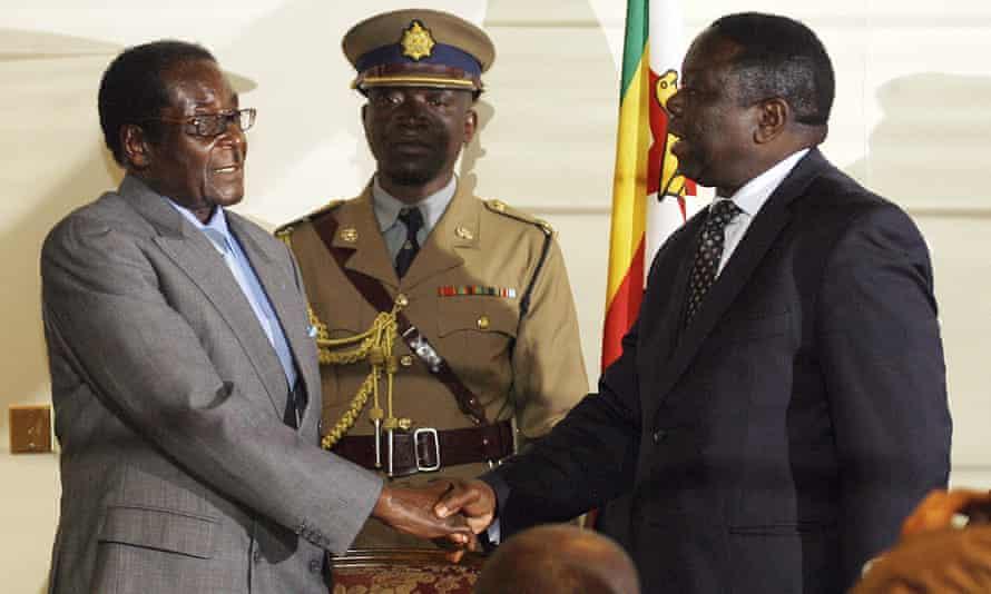 President Robert Mugabe and MDC's Morgan Tsvangirai pictured in 2008