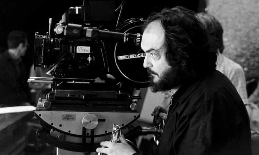 Stanley Kubrick looking though a camera lens
