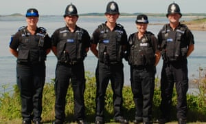 Isles of Scilly police including Sgt Colin Taylor (centre).