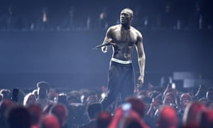 Stormzy at the Brits in 2018.
