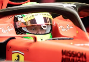 Mick Schumacher during F1 testing in Bahrain in April
