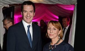 Sarah Sands with George Osborne in 2014.