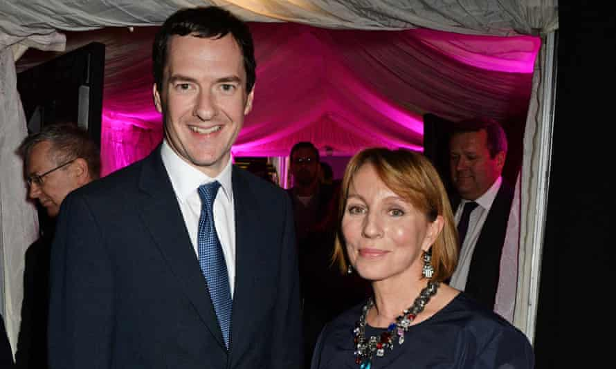 Sarah Sands with George Osborne in 2014.