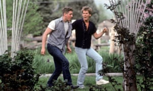 Kevin Bacon with Chris Penn in Footloose in 1984