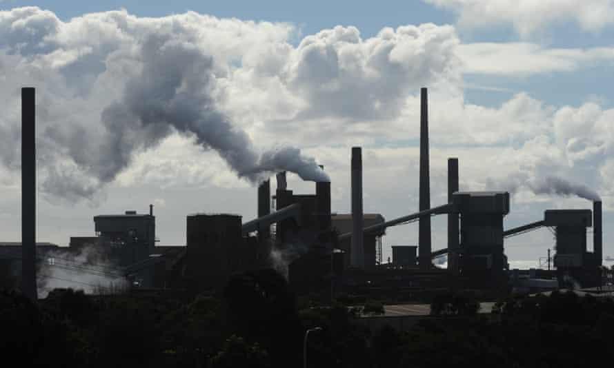 Bluescope Steel's Port Kembla Steelworks in Wollongong.