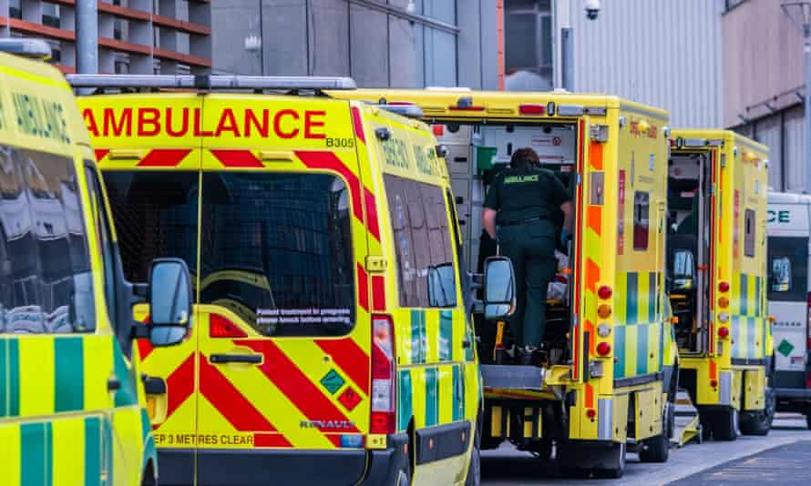 Ambulances at the Royal London hospital