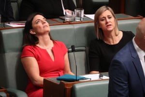 Emma Husar and Susan Lamb before before question time