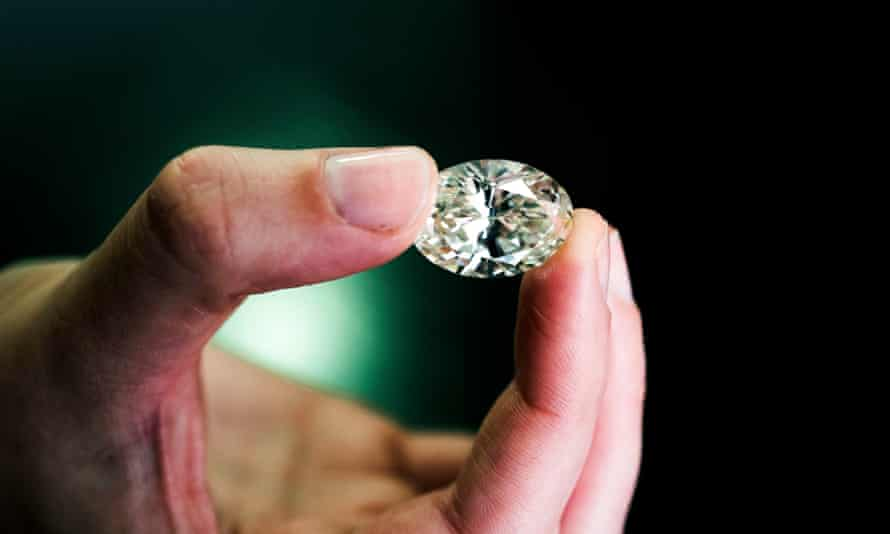 A million pound diamond stone. 77 Diamonds, London. Photograph by Felix Clay