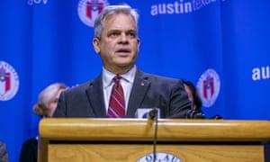 steve adler at press conference