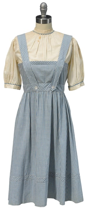 The dress worn by Judy Garland as Dorothy.