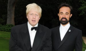 Johnson and Evgeny Lebedev at a charity event in 2009.