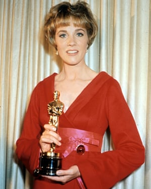Julie Andrews with her best actress Oscar for Mary Poppins.