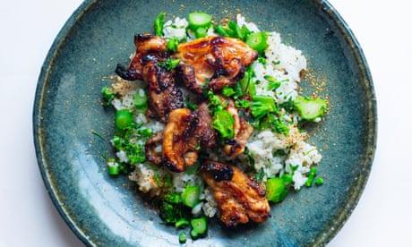Nigel Slater's recipe for yuzu chicken, broccoli and rice