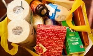 Abigail Housing food parcel