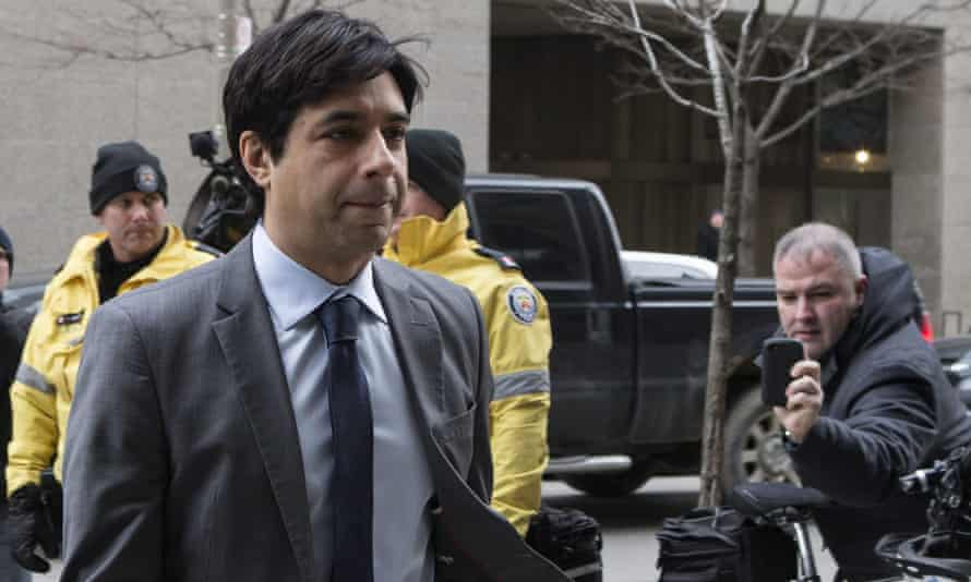 Jian Ghomeshi arrives at a Toronto court on 5 February 2016. He was acquitted in March 2016 of four counts of sexual assault and one count of choking involving three complainants.