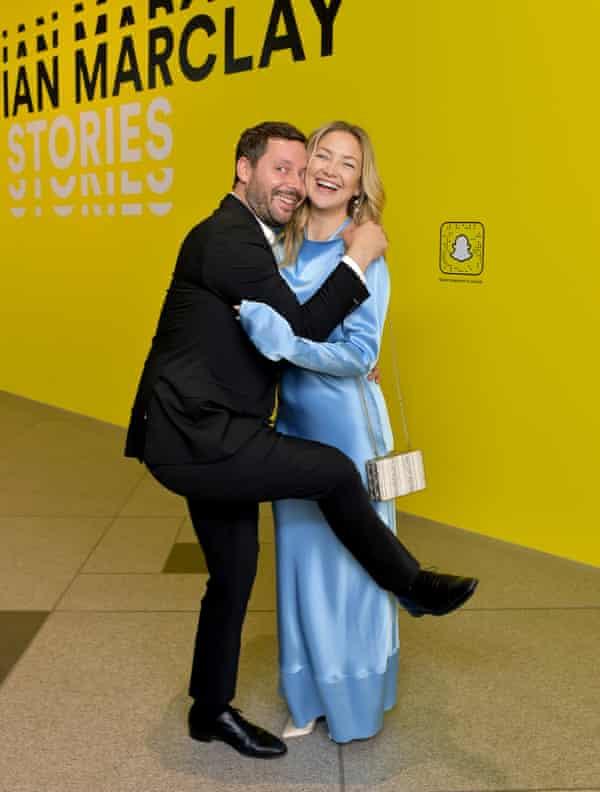 Michael Kives and Kate Hudson at LACMA last September.