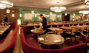 Gilded and flounced: the swish dining room at Barbecoa.