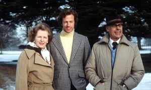 Margaret Thatcher, her husband Denis and their son Mark in January 1982.
