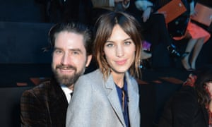 'I was the weird new house mate, like Spike in Notting Hill': with former flatmate Alexa Chung.